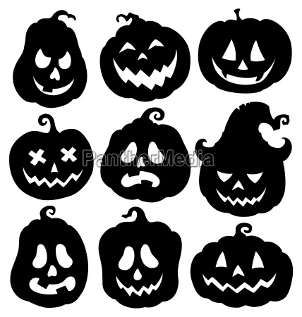 pumpkin silhouettes theme set 3