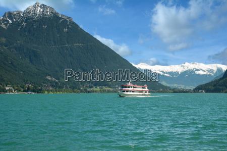 at lake achensee in tirol austria