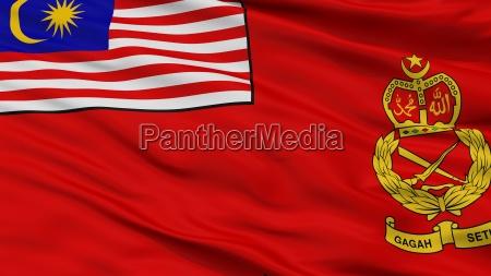 malaysian army flag closeup