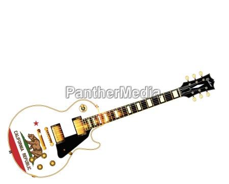 california state flag guitar