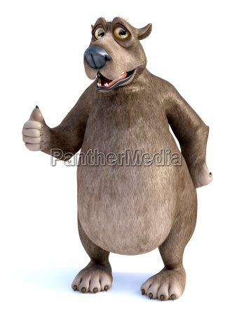 3d rendering of a cartoon bear