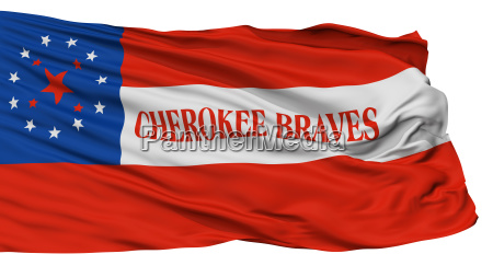 cherokee braves indian flag isolated on