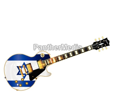 israel flag guitar