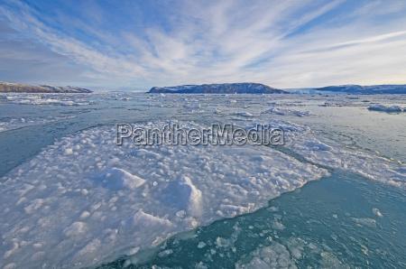sea ice and a glacial landscape