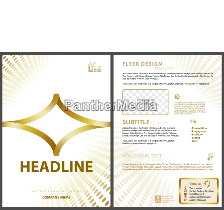 flyer template with golden design elements