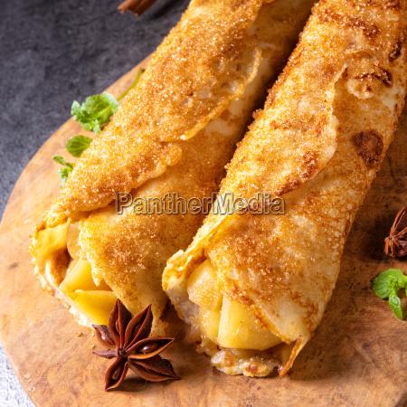 tasty autumnal omas pancakes with apple