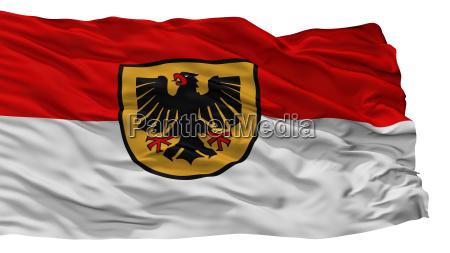 dortmund city flag germany isolated on
