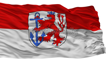 duesseldorf city flag germany isolated on
