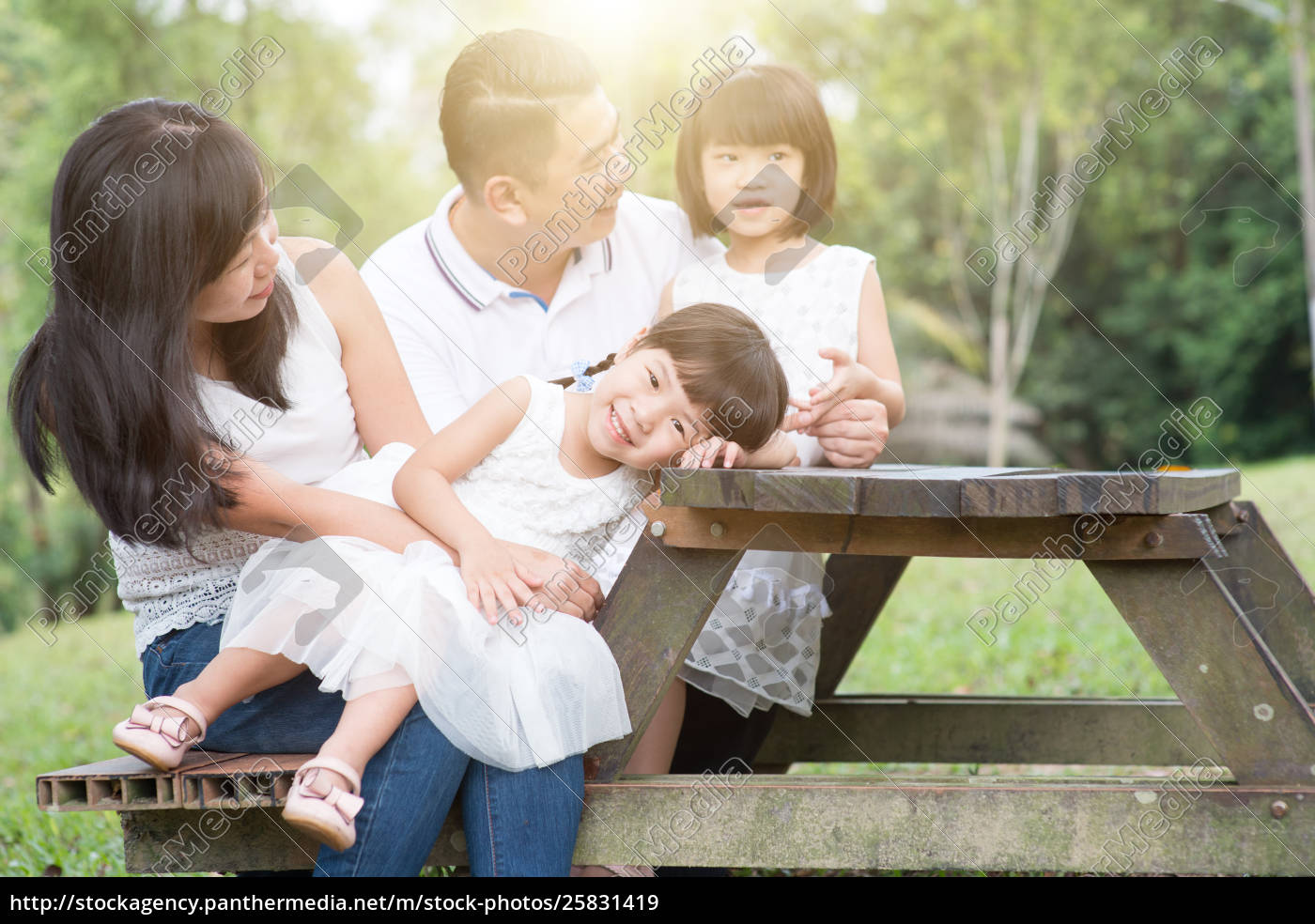 happy, asian, family, bonding, outdoor, with - 25831419