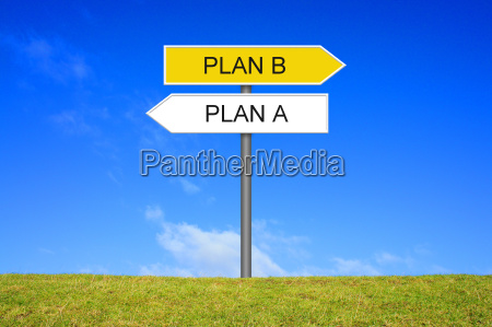 signpost showing plan a and plan