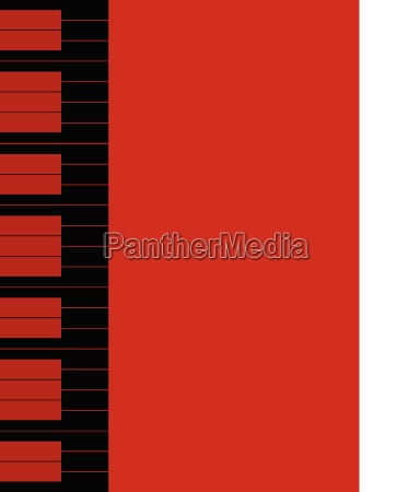 red piano keys background