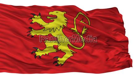 valletta city flag malta isolated on