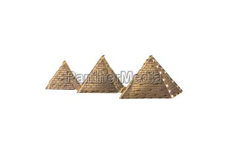 egyptian pyramids golden egyptian pyramids from