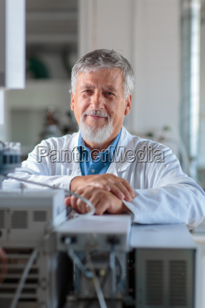 senior chemistry professordoctor carrying out research