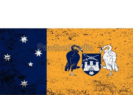 australian capital territory grunge flag