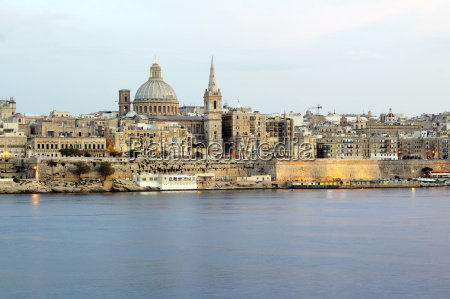 panorama of valletta malta