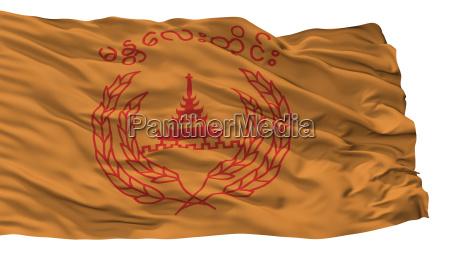 mandalay city flag myanmar isolated on