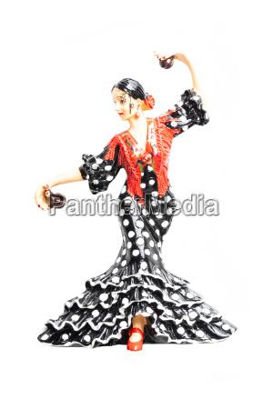 spanish flamenco dancer close up of