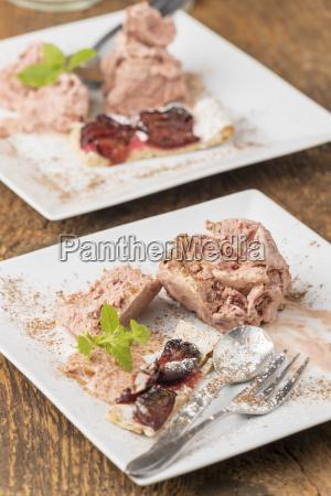 plum ice cream and bavarian zwetschgendatschi