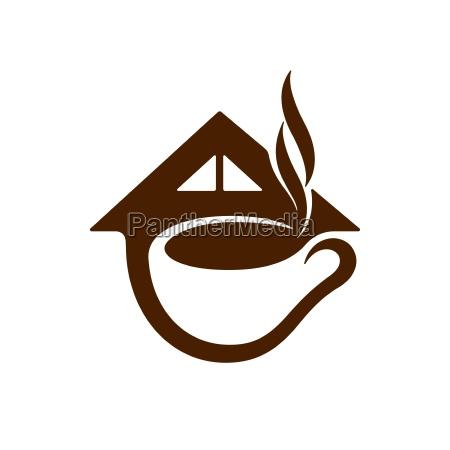 coffee shop symbol vector illustration