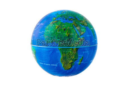 earth globe with africa view isolated