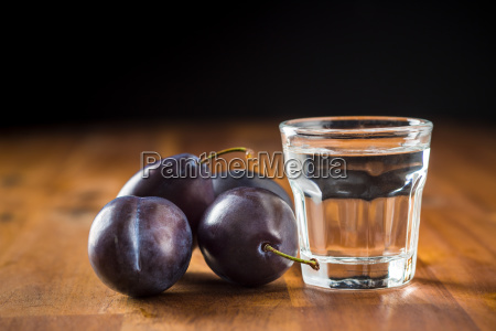 plum brandy and plums slivovitz