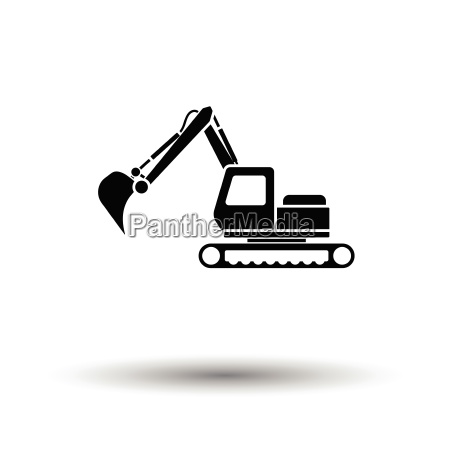 icon of construction excavator