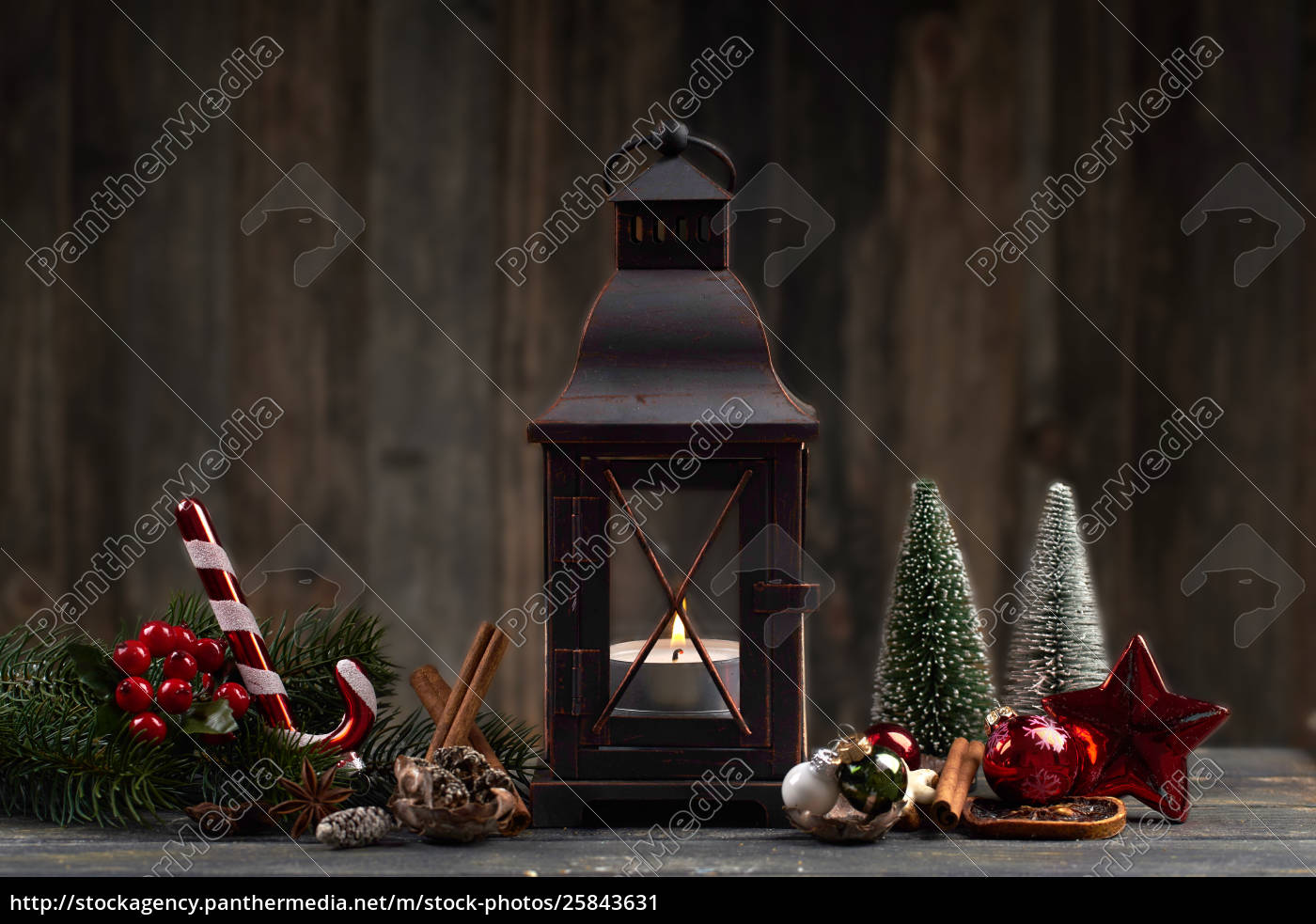 Dark Christmas.Stock Photo 25843631 Wooden Christmas Lamp With Festive Decoration On Dark