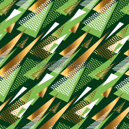 seamless triangle green and gold luxury