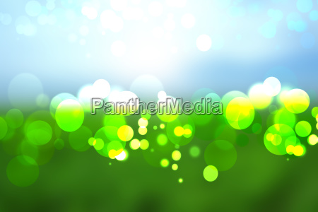 abstract colorful green blue bokeh lights