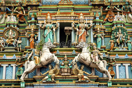hindu temple with indian gods kuala