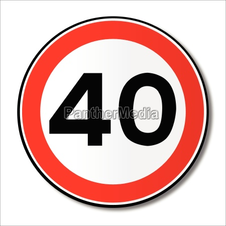 40 mph limit traffic sign