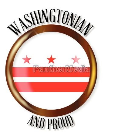 washington dc proud flag button