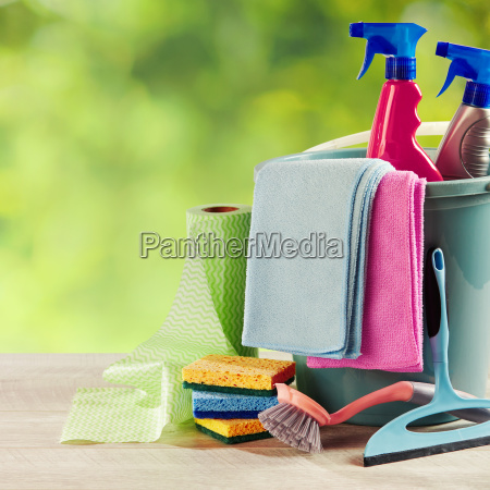 selection of cleaning products on a