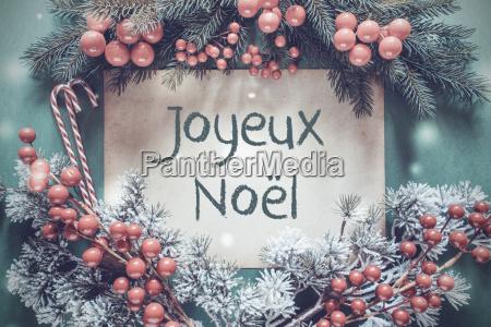 christmas garland fir tree branch joyeux