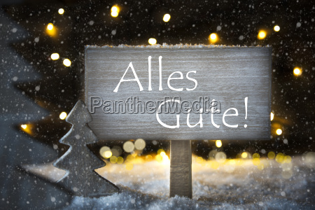 white christmas tree alles gute means
