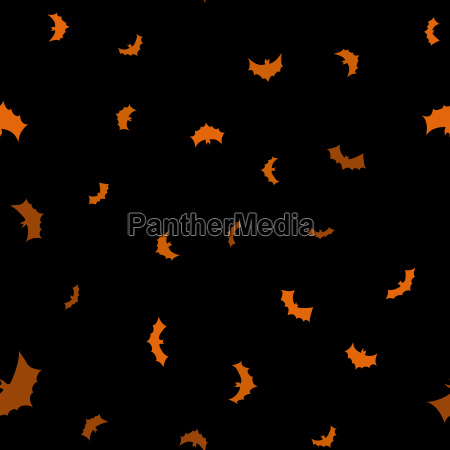 vector black flying bats silhouettes seamless