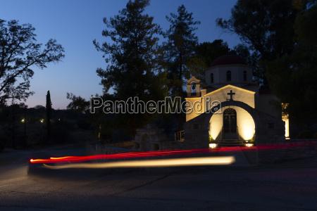 church in sivas village on crete