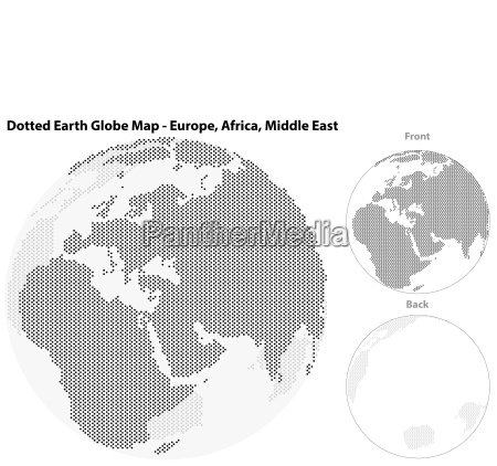 dotted earth globe with central view