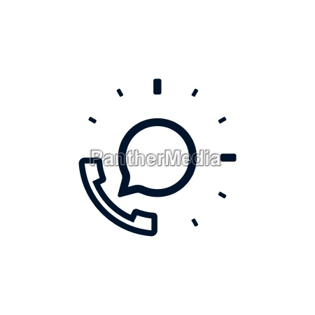 support phone with speech bubble icon