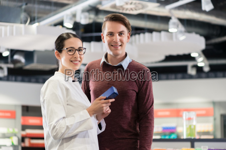 portrait of a customer standing next