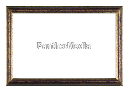 painted wooden picture frame with white