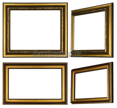 several painted wooden frames to hang