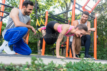 fit woman doing leg extension with
