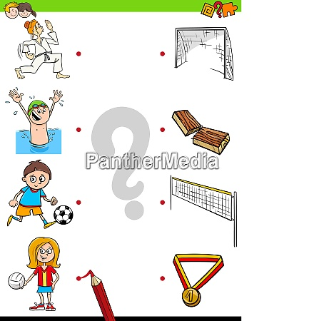 match children characters and sport activities