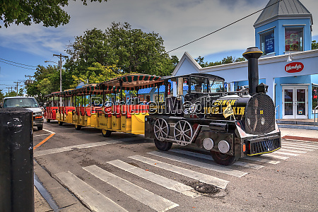 conch tour train along the streets