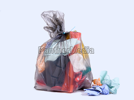 garbage bag with defferent content
