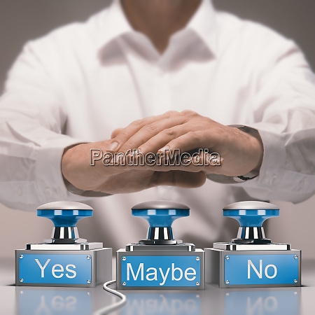 quick decision making and indecision concept