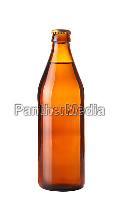 close up one brown beer bottle