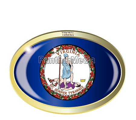 virginia state flag oval button